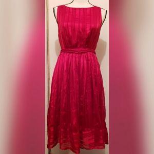 Luxe by Carmen Marc Valvo Red Dress Silk Formal